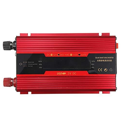 N\A Coche inversor de energía Solar Power Inverter LCD 1000W Pico 12V / 24V a 110V / 220V - 12V-220V