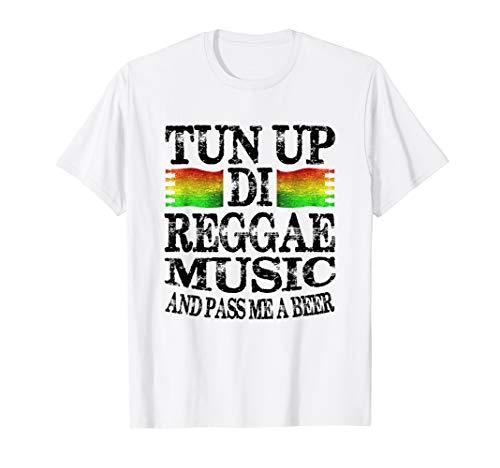 Jamaika-Ferien 2019 Shirt Tun Up Di Reggae Musik und Bier T-Shirt