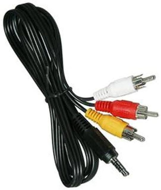AAA PRODUCTS - Cable de TV de alta calidad para videocámara Sony Handycam cable de conexión AV/AUDIO VIDEO repuesto para VMC-20FR