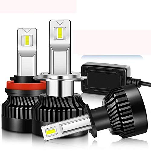 JALAL 2 uds 100W 25000LM LED Faro H1 H4 H7 LED Canbus H8 H11 9005 HB3 9006 HB4 9012 HIR2 Bombilla de Luces antiniebla para Coche 12V, 9006 / hb4