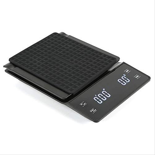 logo 3kg / 0.1g Escala De Café Digital con Temporizador LCD Básculas Electrónicas Balanza Alimentaria Medición De Peso Cocina Balanzas De Café