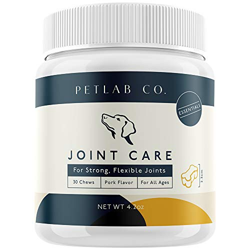 Petlab Co. Joint Care Chews for Dogs | Packed Essential Vitamins To Promote Optimum Dog Hip and Joint Health | Glucosamine, Salmon Fish Oil Omega-3 Fatty Acids, Turmeric