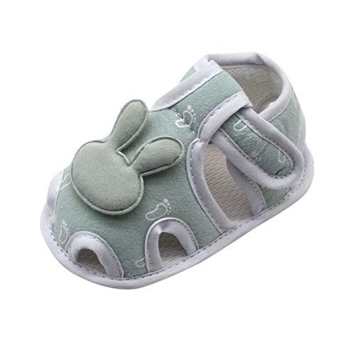 Nyuiuo Moda Infantil recién Nacido bebé niñas niño Prewalker impresión Conejo Dibujos Animados Zapatos Individuales Zapatos Casuales al Aire Libre Zapatos Transpirables