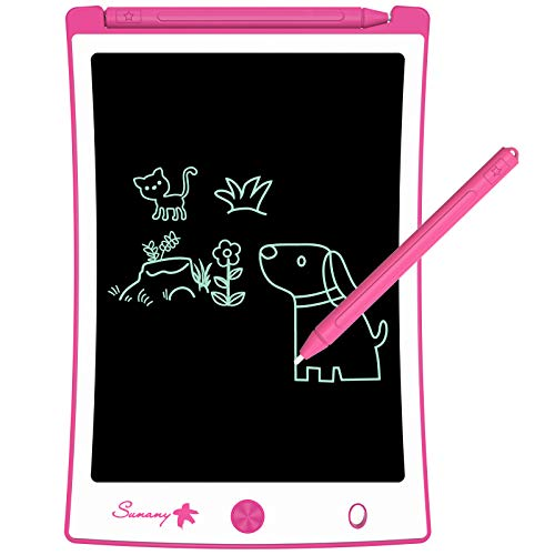 LCD Writing Tablet,Electronic Writing &Drawing Board Doodle Board,Sunany 8.5' Handwriting Paper Drawing Tablet Gift for Kids and Adults at Home,School and Office (Pink)