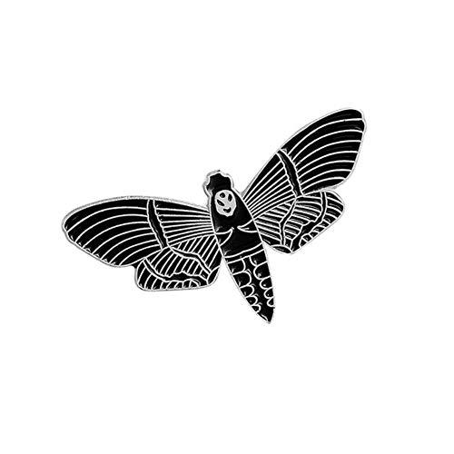 Black Dark Bat Animal Punk Pins Chaquetas de cuero Denim Jeans Mochila Bolsa Accesorios Insignias Broches Pines de esmalte, Style5