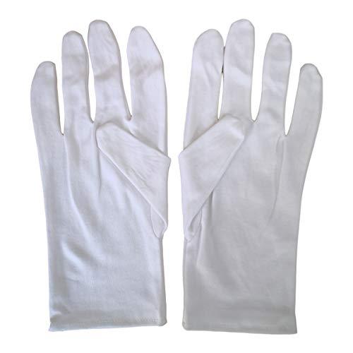 Kaavie Handschuhe aus reiner Baumwolle, hohe Dichte, Größe XL, 2 Paar
