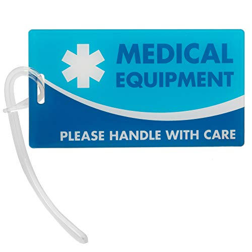Medical Equipment ID Identification Luggage Tags | Medical Alert | Carry-On Respiratory Devices | Travel Supplies | Bag Tag | Luggage Gift