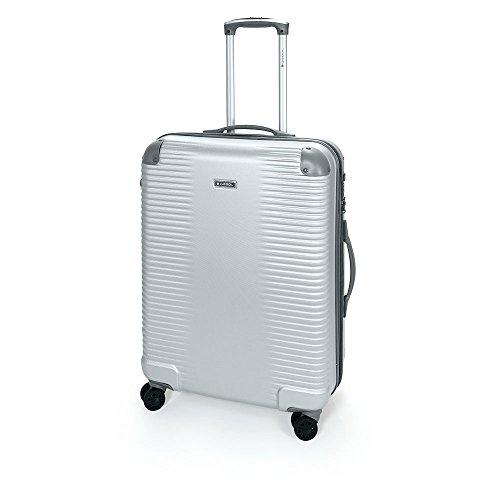Gabol - Balance | Maletas de Viaje Medianas Rigidas de 47 x 66 x 25 cm con Capacidad para 55 L de Color Plata