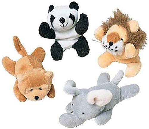 Dozen Assorted Bean Bag Wild Animal Stuffed Toys by U.S. Toy