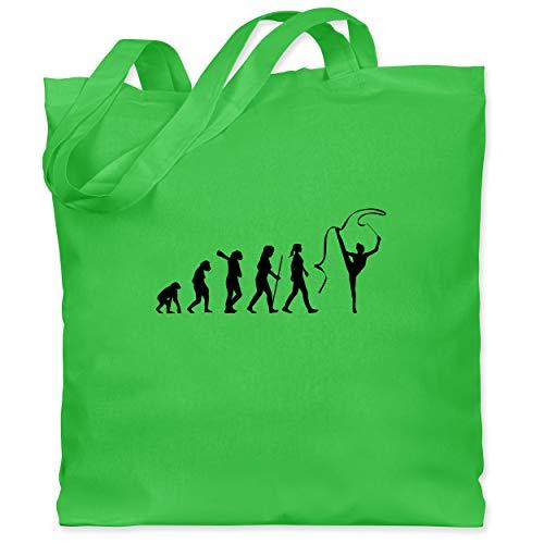 Evolution - Rhythmische Sportgymnastik Evolution - Unisize - Hellgrün - XT600_Jutebeutel_lang - WM101 - Stoffbeutel aus Baumwolle Jutebeutel lange Henkel
