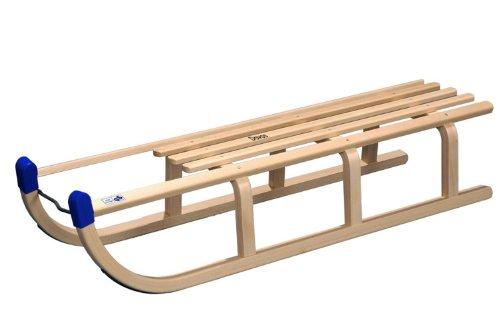 Rix Holzschlitten Davos 110 cm, Set mit Lehne und Leine