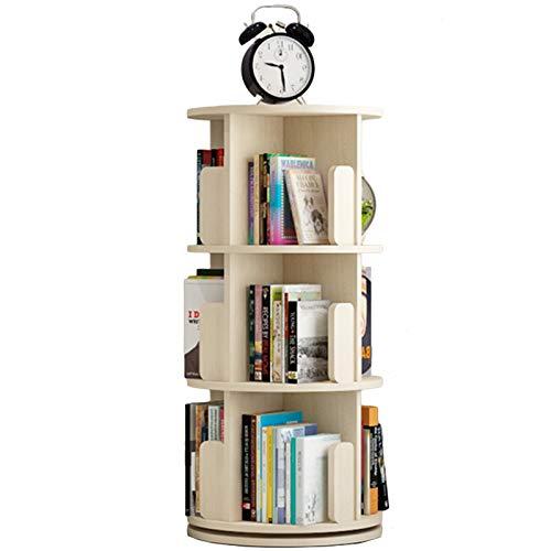 Librero 3 Niveles Estantería de Esquina, Librería Anti-caída Bandeja de Almacenamiento para la Decoración del Hogar/Oficina/Escuela, 46×99.5cm (Color : Wood Color)