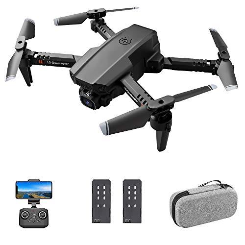 GoolRC Drone RC LS-XT6 con cámara Cámara 4K Seguimiento de Vuelo Sensor de Gravedad Gesto Foto Video Altitud Modo sin Cabeza RC Quadcopter para Adultos Niño (4K Cámara única, 2 Batería)