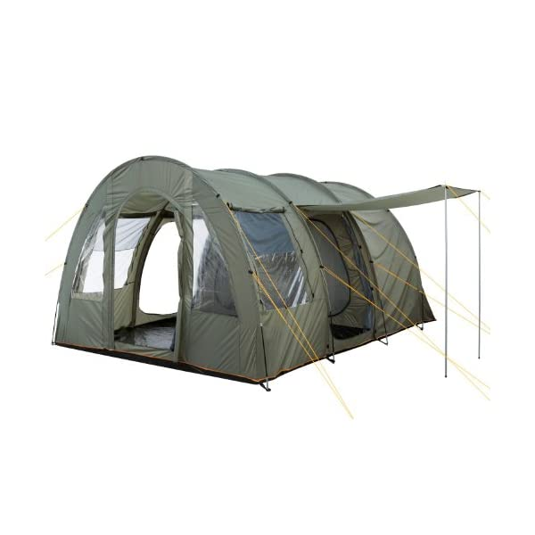 CampFeuer - Big Tunnel-Tent, Olive-Green/Grey, 5000 mm