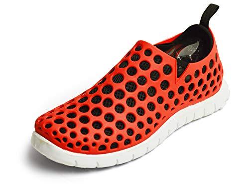 (ラプアカーマ) LAPUA KAMAA アウトドア シューズ サンダル スポーツサンダル アクア メンズ スニーカー メッシュ 2WAY 通気性 軽量 靴 (LL(26.5cm-27cm相当), レッド/ブラック)