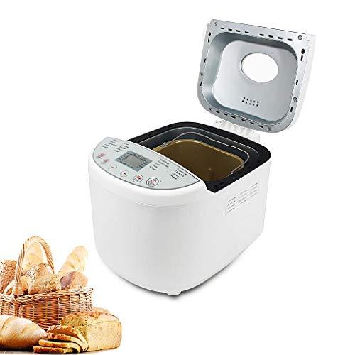Domaier Máquina de Pan Sin Gluten, Panificadora Automática, 650W Máquina Programable para Hacer Pan con 19 Programas con Certificación CE, Rohs, LFGB, CB