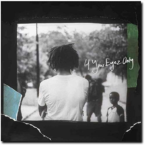 Poster Hot J_Cole Cover 4 Your Eyez Only Album - No Frame (24 x 24)