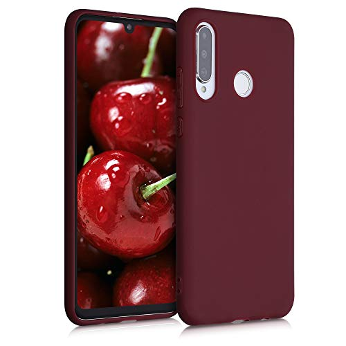 kwmobile Funda Compatible con Huawei P30 Lite - Carcasa de TPU Silicona - Protector Trasero en Rojo Vino