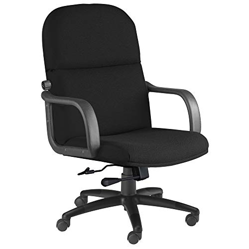 Mayline Comfort Series Big & Tall 500 lb. Executive Chair with Loop Arms, Black