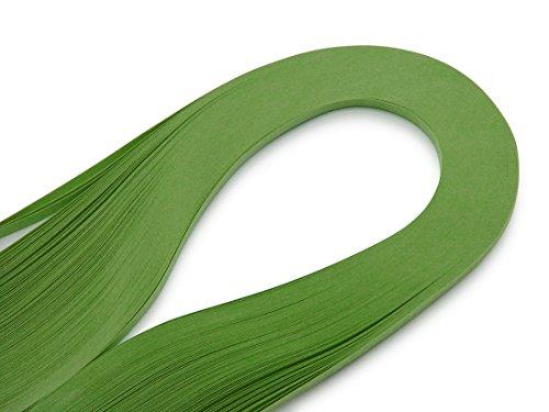 WEBandBUY Quilling Papierstreifen 120 Stück 390mm lang 3mm breit Grün