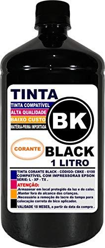 Tinta Preta Epson 1 Litro Impressoras L355 L365 L375 L380 L395 L396 L220 L120 L455 L475 L495 L800