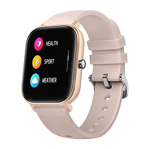 chebao, Reloj de seguimiento de actividad impermeable, P8 de 1,4 pulgadas IP67 pulsera inteligente monitor de ritmo cardíaco (dorado)