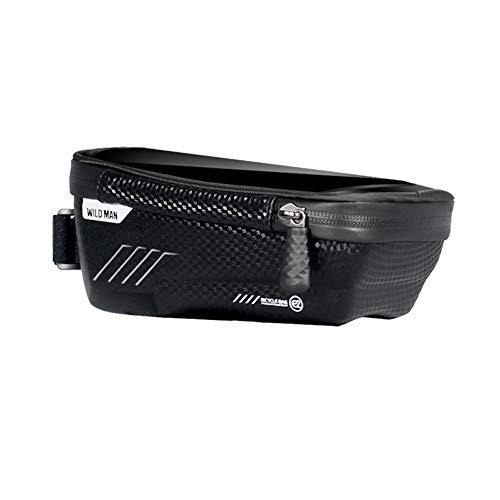 SANGSHI Bolsa para cuadro de bicicleta, resistente al agua, soporte para teléfono móvil, ideal para navegación, bolsa para bicicleta, accesorio para bicicleta