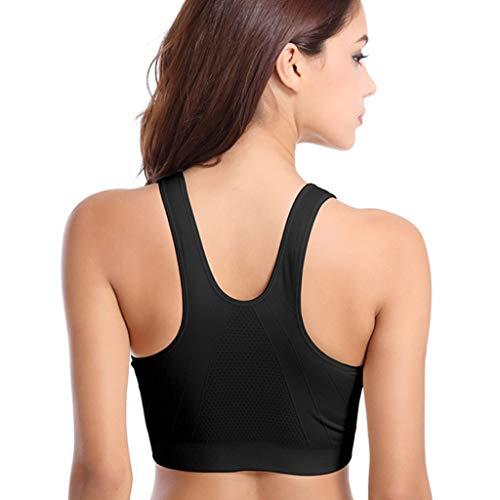 ZPO Sujetador Deporte Mujer con Relleno Elastico y Transpirable Sujetadores Deportivo Gimnasio Yoga Fitness Ejercicio