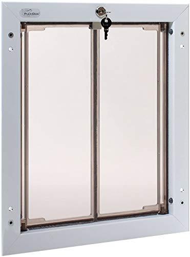 PlexiDor Performance Pet Doors for Dogs and Cats - Door Mount Dog Door with Lock and Key - White,...