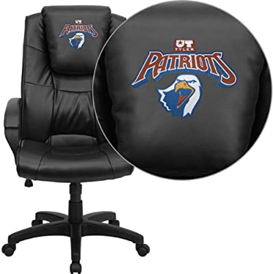 Flash Furniture Texas at Tyler Patriots Embroidered Black Leather Executive Office Chair