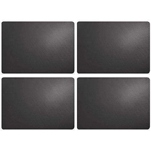 ASA Selection 7807420 table top Lederoptik Tischset, 46 x 33 cm, Kunststoff, basalt (4er Pack)