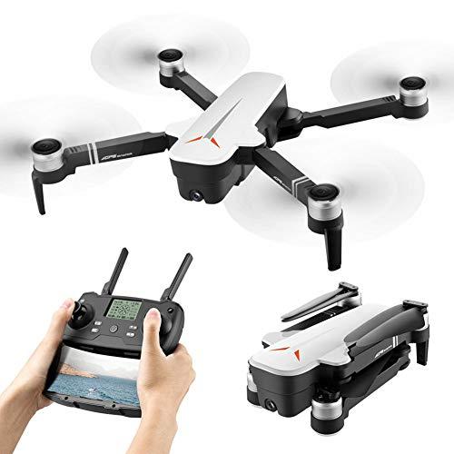 YOLL Drohne mit Kameras,1080P FPV HD Kamera/Video und 4k HD Kamera,optischer Flugstabilisator RC Quadcopter,25Minuten Flugzeit,EIN-Tasten-Start und -Landen,Hochwertige Drohne/Weiß