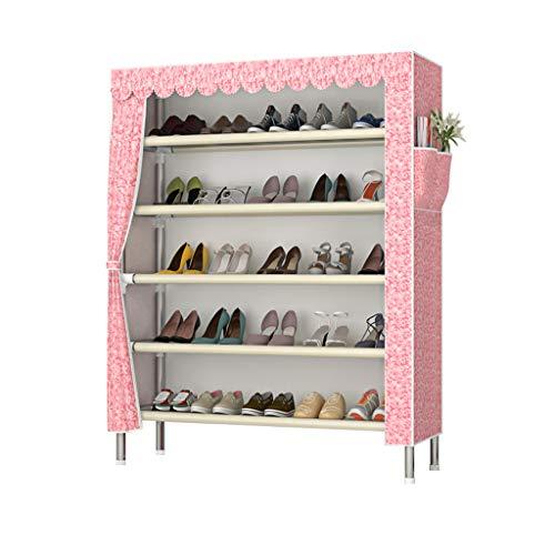 Xiuyun Range-chaussures Tour Organisateur De Stockage Simple Multi-couche Assemblage Ménage Etanche À La Poussière Gain D'espace Grande Capacité (Color : B, Size : M)