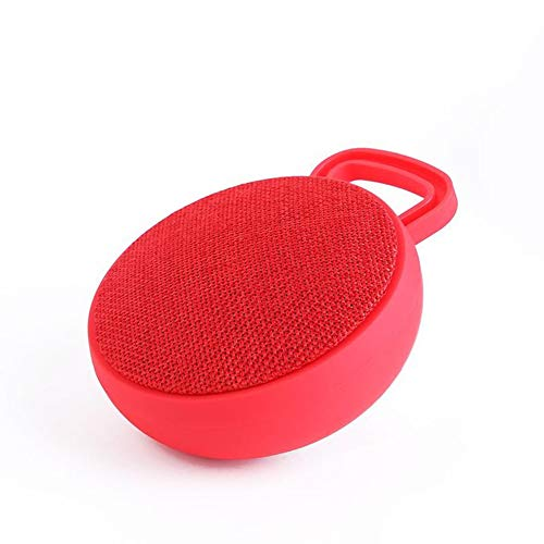 YUHUANG Bluetooth-Lautsprecher, Wireless Stereo U Scheibe TF-Karten-Musik-Radio bewegliches im Freien Reiten oder Fahren Auto-Subwoofer-Lautsprecher-Telefon-Rot