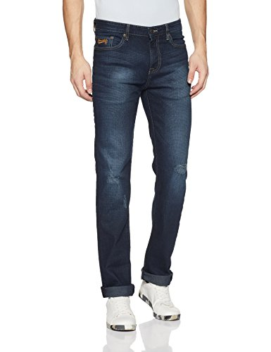 AEROPOSTALE Men's Straight Fit Jeans (AE1002601962_Medium Wash_38W x 34L)