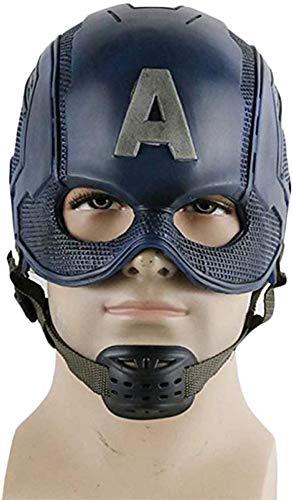 XDHN Capitán América, Guerra Civil, Casco De Máscara De Capitán América Marvel Avengers Capitán América 3 Máscaras Cos Accesorios De Casco De Halloween, Capitán América, 59Cm ~ 62Cm