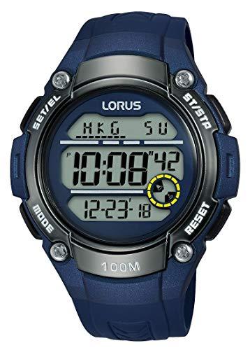 Lorus Sport Herren-Uhr Chronograph Edelstahl und Kunststoff mit Urethanband R2329MX9
