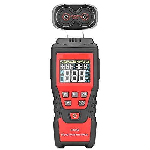 Medidor de humedad de madera Medidor de humedad de papel 0-99.9% Probador de humedad de madera Higrómetro pared Detector de humedad de madera Pantalla LCD grande