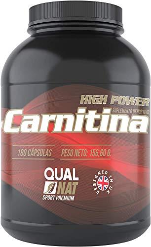 L-Carnitine pour améliorer et augmenter la performance sportive - Complément sportif de Carnitine pour perdre du poids et augmenter votre masse musculaire avec un entraînement approprié - 180 capsules