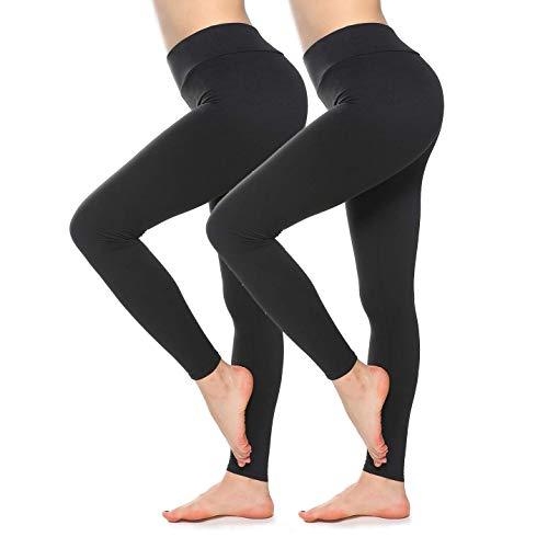 SINOPHANT Mallas de Deporte de Mujer, Leggins Pantalon Deporte Yoga, Leggings Mujer Fitness Suaves Elásticos Cintura Alta para Reducir Vientre