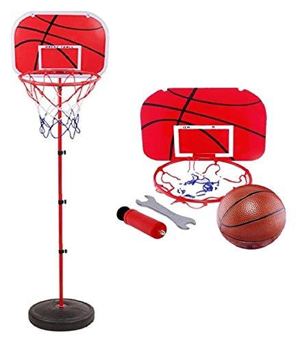 Aro de baloncesto y el soporte, los niños del aro de baloncesto, baloncesto Conjunto de altura ajustable con la bola y de la red, del mismo tamaño del aro de baloncesto, gratuito pie del aro de balonc