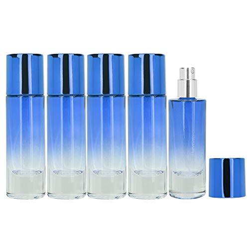Botella de spray de perfume contenedor de perfume portátil para bolso de bolsillo(blue)