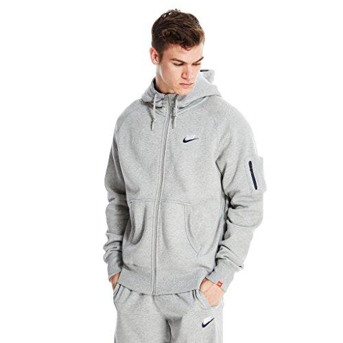 Nike gründer aw77 herren grau fleece kapuzenjacke - Grey, grau, Small