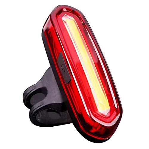 Luz Trasera de Bicicleta, NewZexi USB Recargable LED Luz Trasera de Bicicleta Impermeable Luces de Bicicleta de Luces Blancas Rojas 6 Modos Luz de Cola de Bicicleta Luces de Advertencia