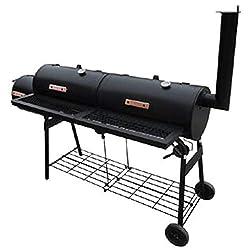 vidaXL Holzkohlegrill Smoker BBQ Barbecue Grillwagen Standgrill Räucherofen