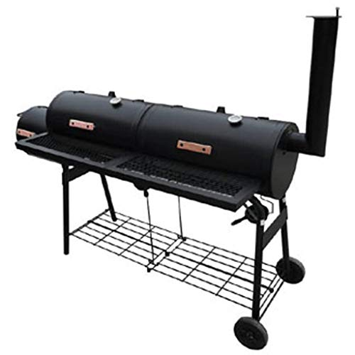 vidaXL Black Smoker BBQ Nevada XL