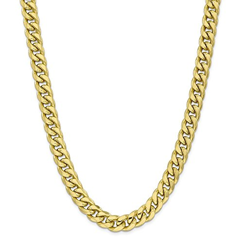 Photo of 10k Yellow Gold 11mm Miami Cuban Chain Necklace 26 Inch Pendant Charm Curb Fine Jewellery For Women Gifts For Her