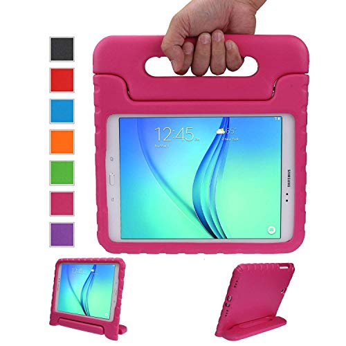 LEADSTAR Kids Case for Samsung Galaxy Tab A 9.7 Shockproof Case Light Weight Super Protection Cover Handle Stand Case for Kids Children For Samsung Galaxy Tab A 9.7-inch SM-T550 SM-P555 (Rose)