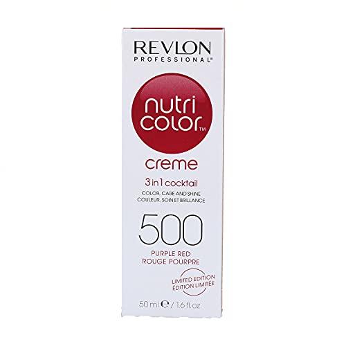 Revlon Haarfarbe mit Pflege Nutri Color Creme, Nr. 500 Purpurrot, 50 ml