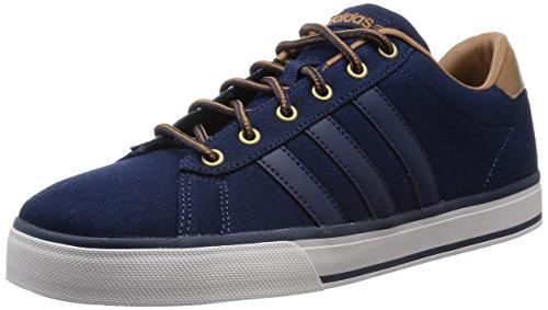 adidas NEO Daily Schuhe Mode Sneakers Herren Leinwand blau, Blau - blau - Größe: 40 2/3